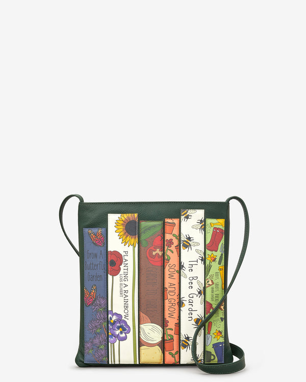 Green Fingers Bookworm Leather Cross Body Bag