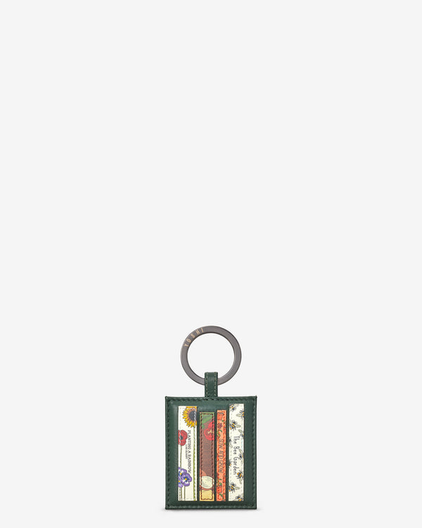Green Fingers Bookworm Library Leather Keyring