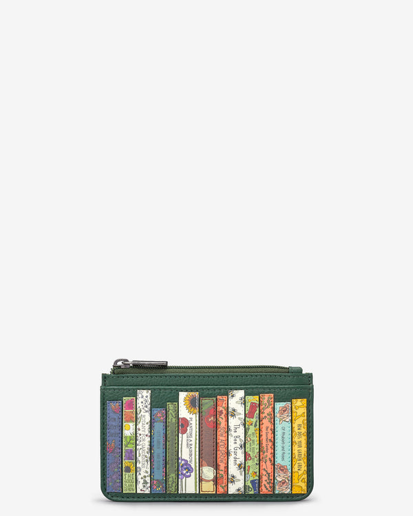 Green Fingers Bookworm Library Morton Leather Card Holder
