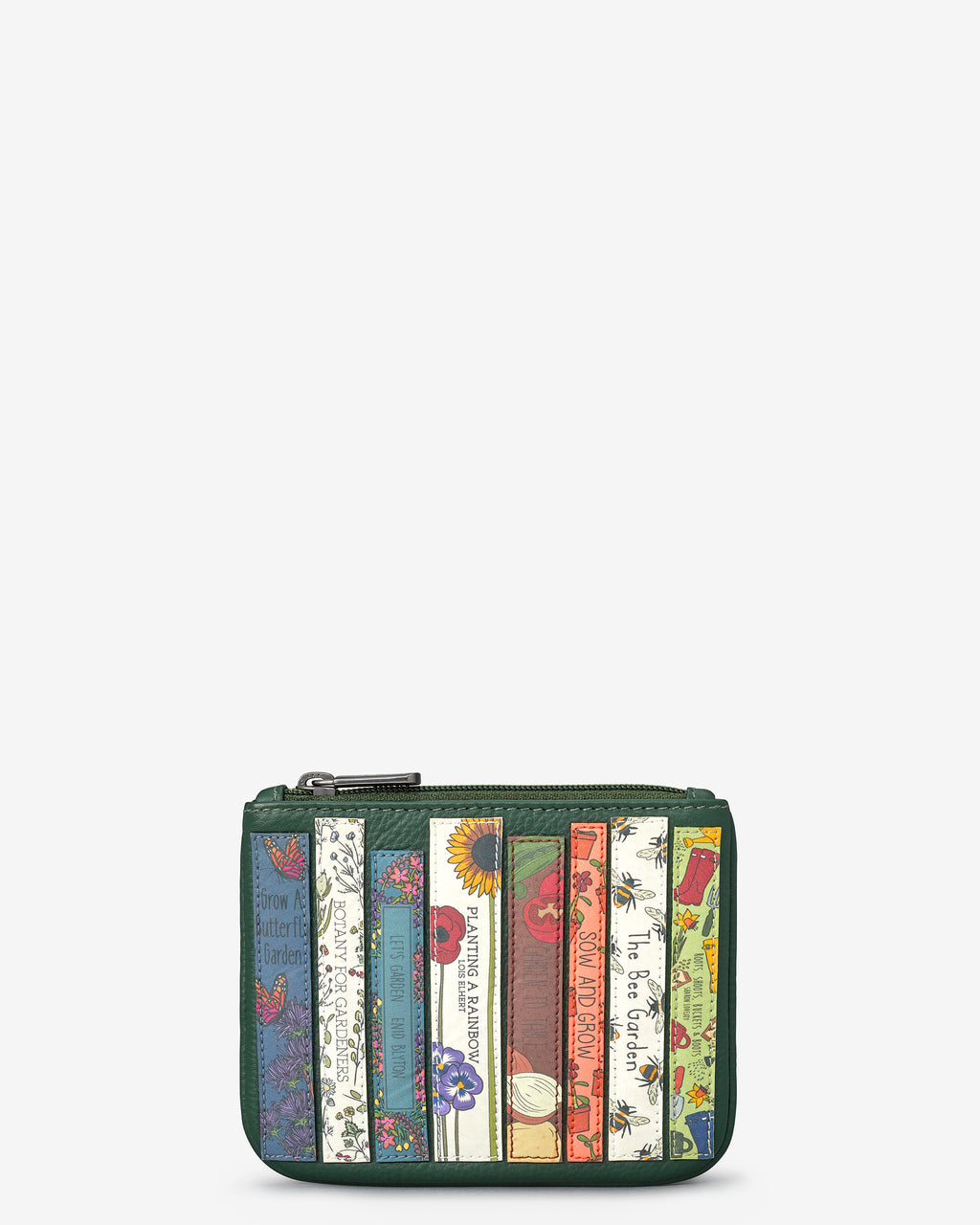 Green Fingers Bookworm Library Zip Top Leather Purse