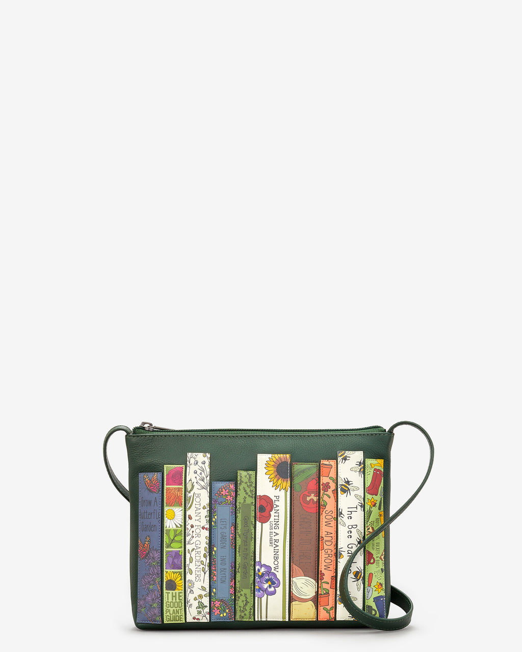 Green Fingers Bookworm Parker Leather Cross Body Bag