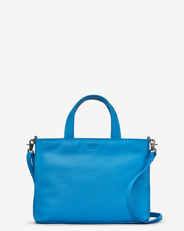 Hampton Multiway Cobalt Blue Leather Grab Bag