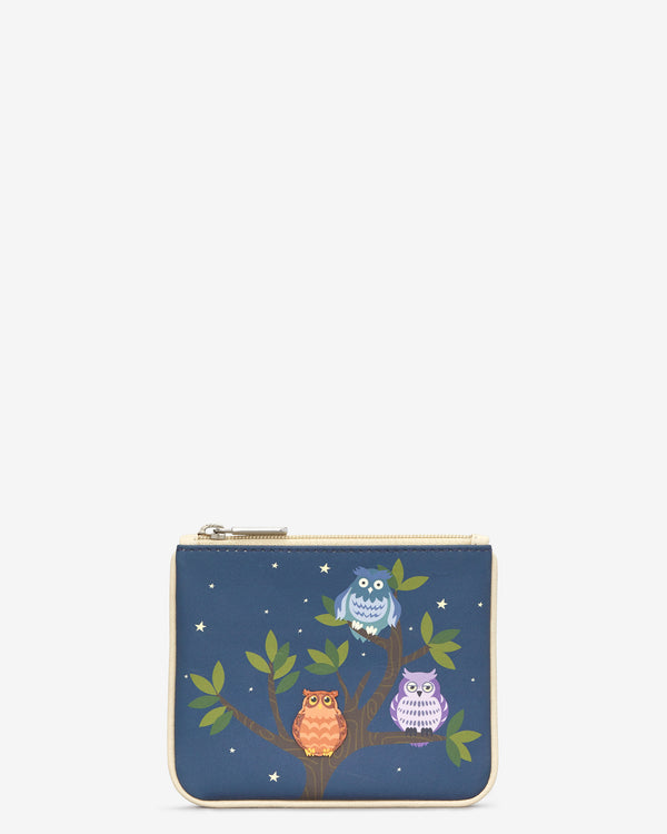 Y By Yoshi Having A Hoot Leather Zip Top Purse