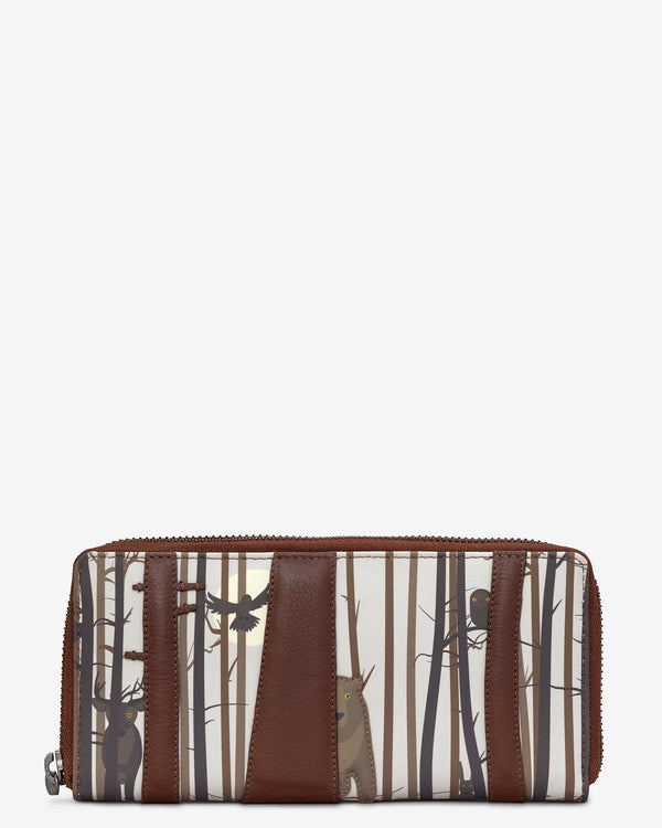 Into the Wild Brown Leather Zip Round Purse
