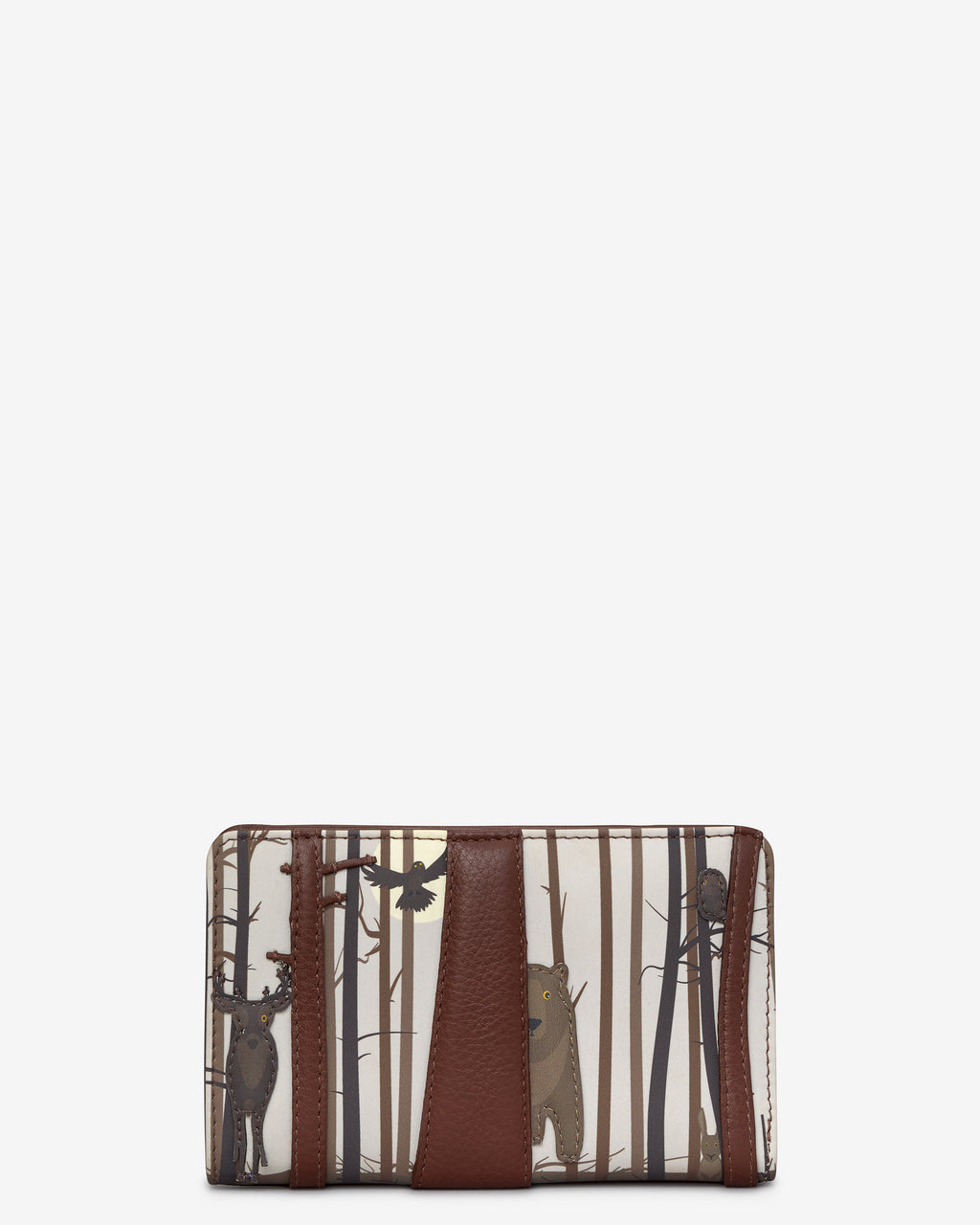 Into the Wild Flap Over Zip Around Leather Purse