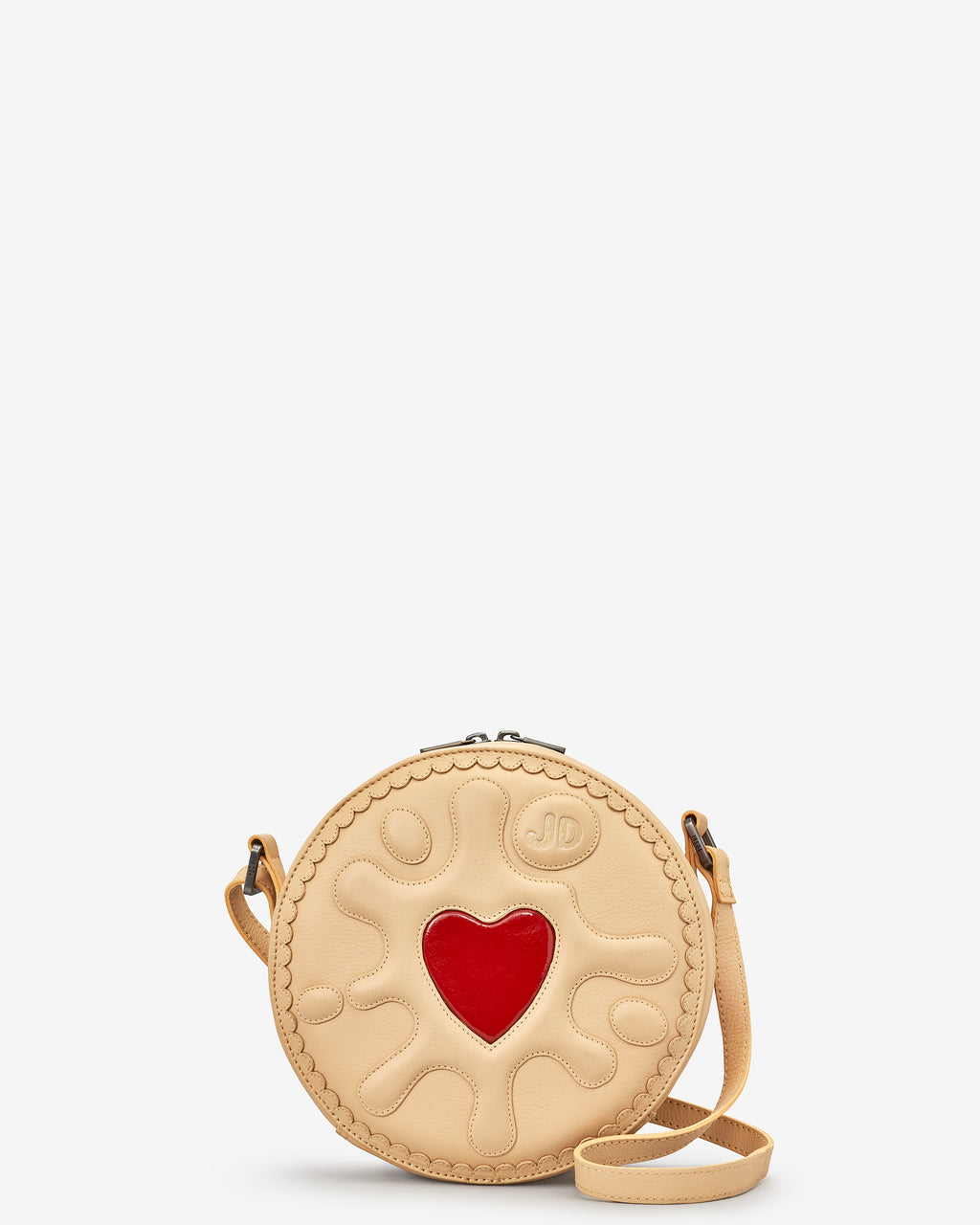 Jammie Dodger Biscuit Leather Across Body Bag