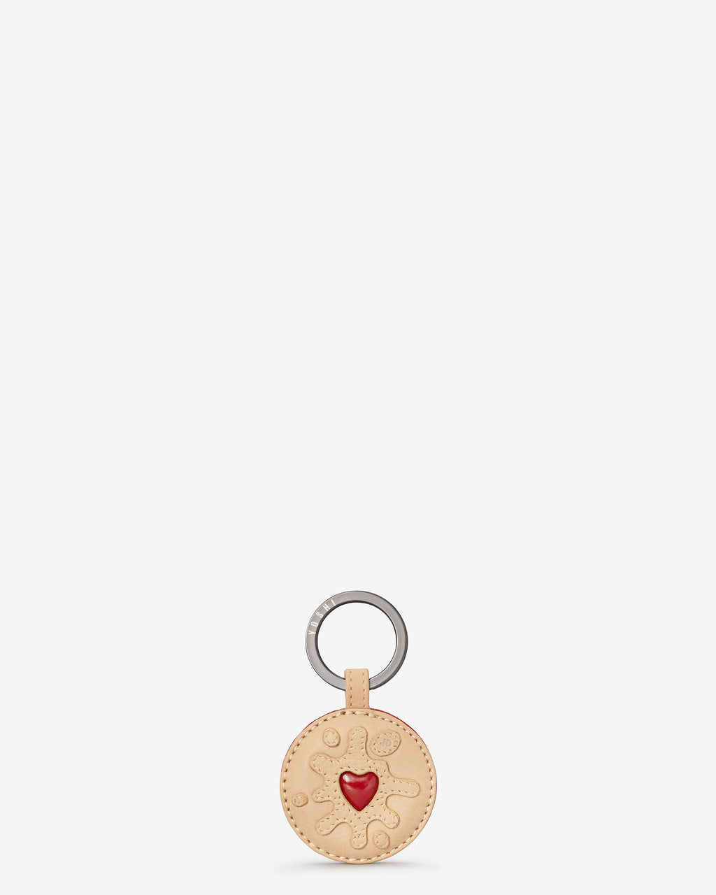 Jammie Dodger Biscuit Leather Keyring