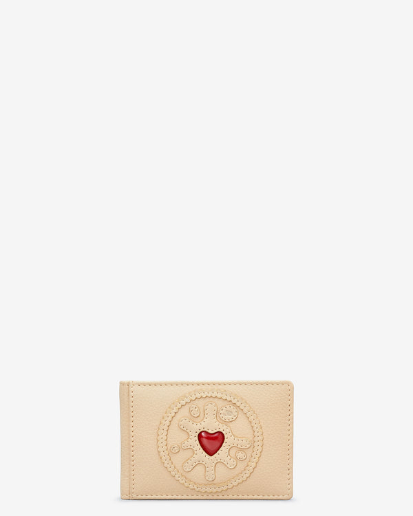 Jammie Dodger Biscuit Leather Travel Pass Holder