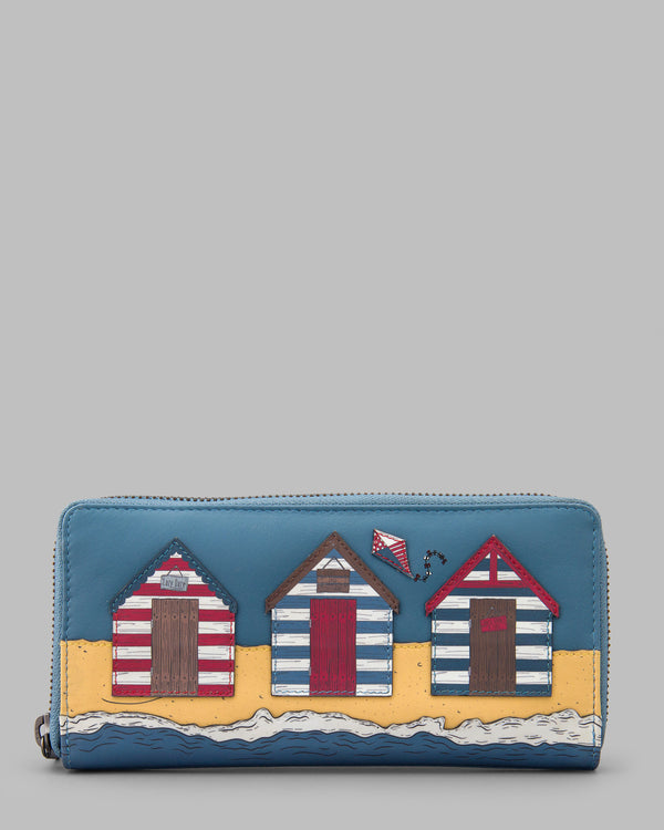 Lazy Daze Zip Around Leather Purse