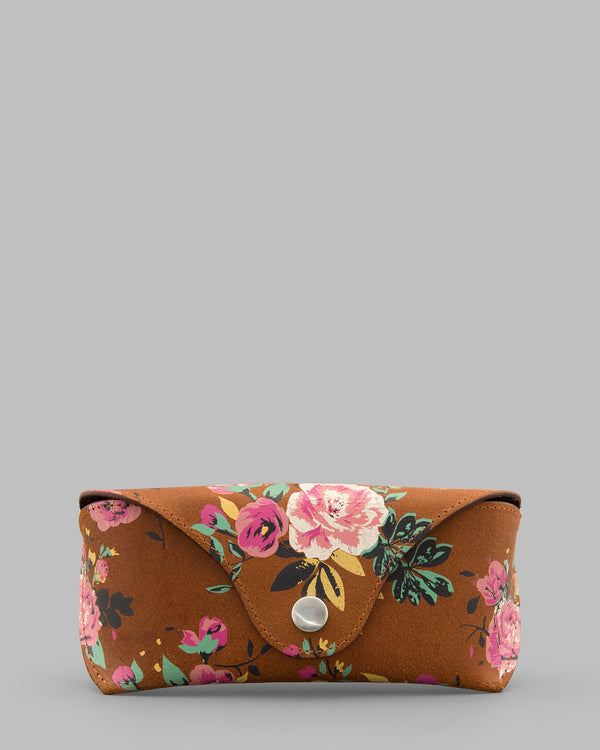 Leather Floral Glasses Case by Yoshi