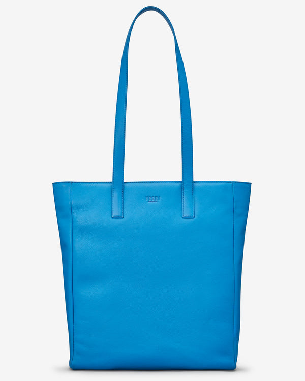 Marlowe cobalt Blue Leather Shopper Bag