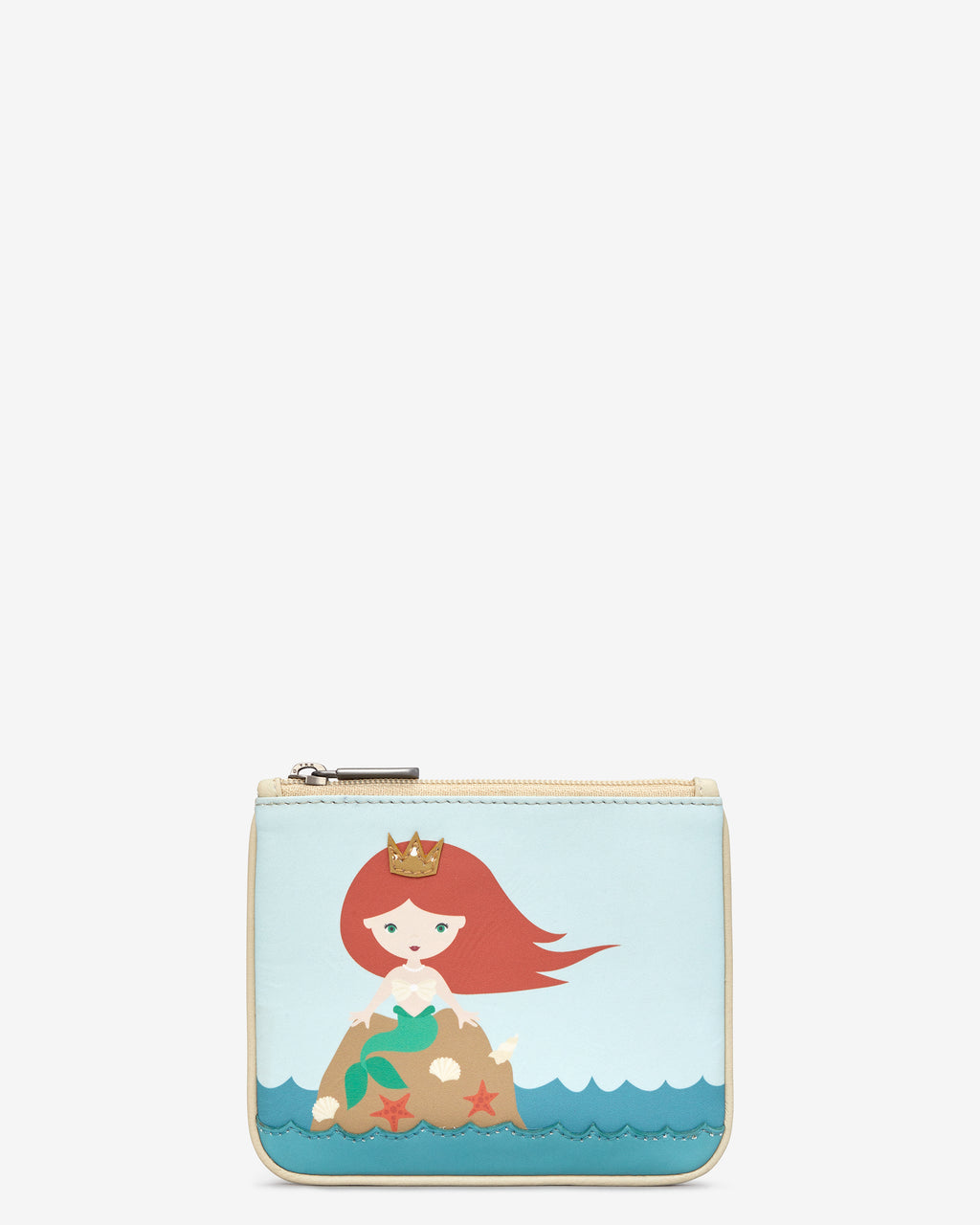 Y By Yoshi Zip Top Leather Mermaid Purse