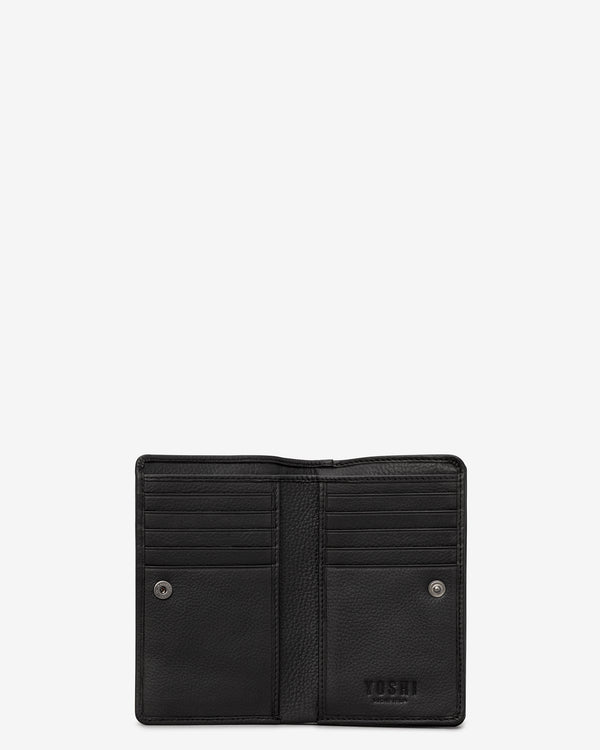 Flap Over Zip Around Leather Oxford Purse