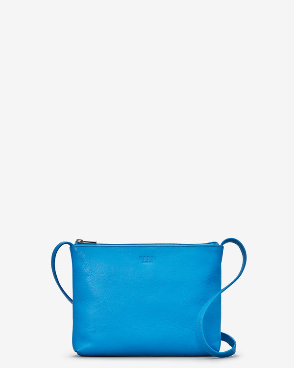 Parker Cobalt Blue Leather Cross Body Bag