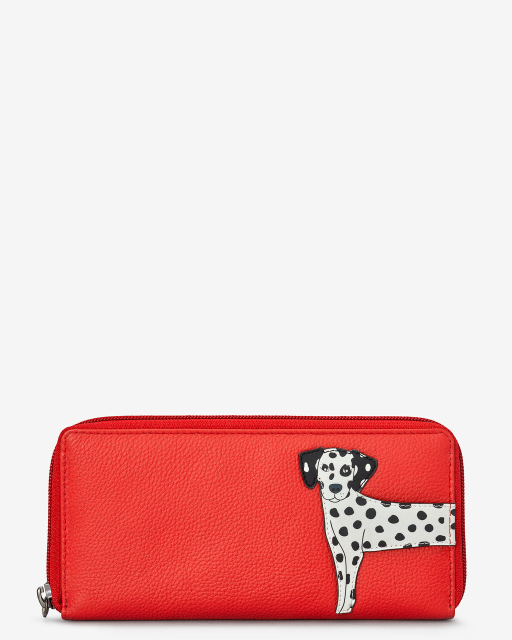 Penny The Dalmatian Zip Round Leather Purse