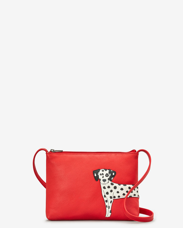 Penny The Dalmatian Leather Cross Body Bag