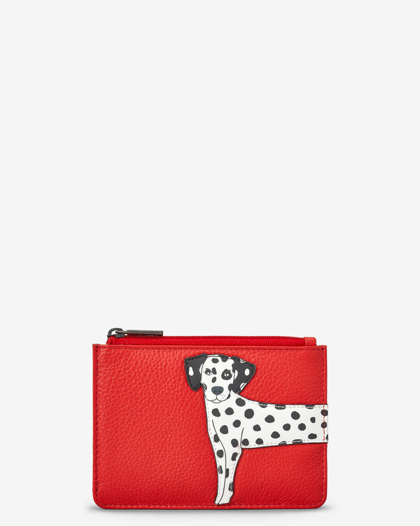 Penny The Dalmatian Zip Top Leather Purse