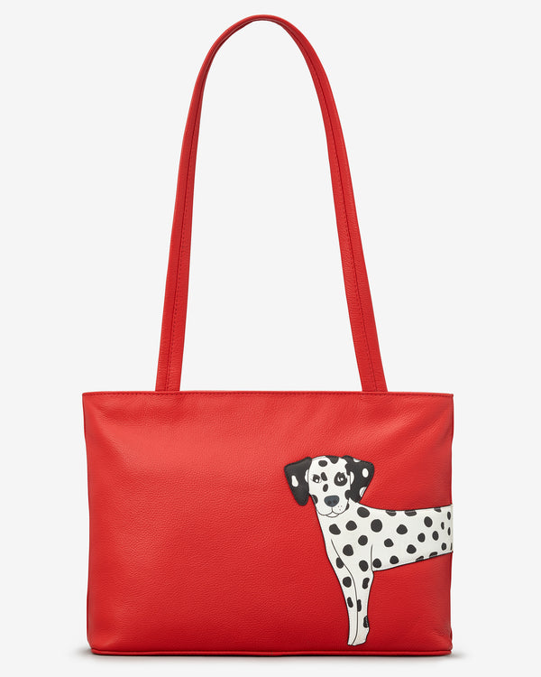 Penny The Dalmatian Leather Shoulder Bag