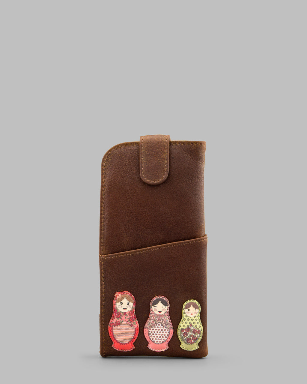 Russian Dolls Leather Glasses Case