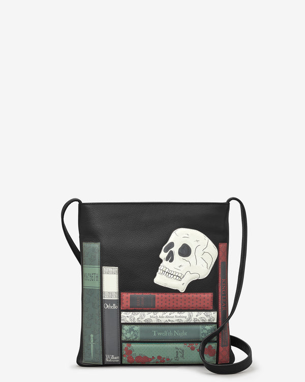 Shakespeare Bookworm Leather Cross Body Bag