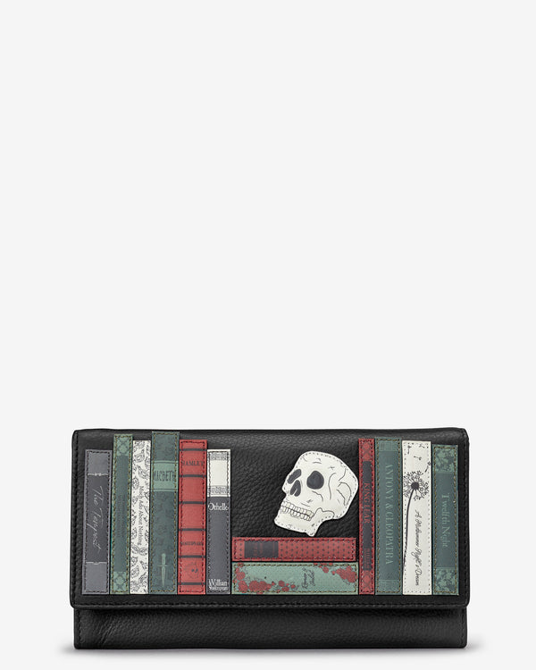 Shakespeare Bookworm Flap Over Leather Purse