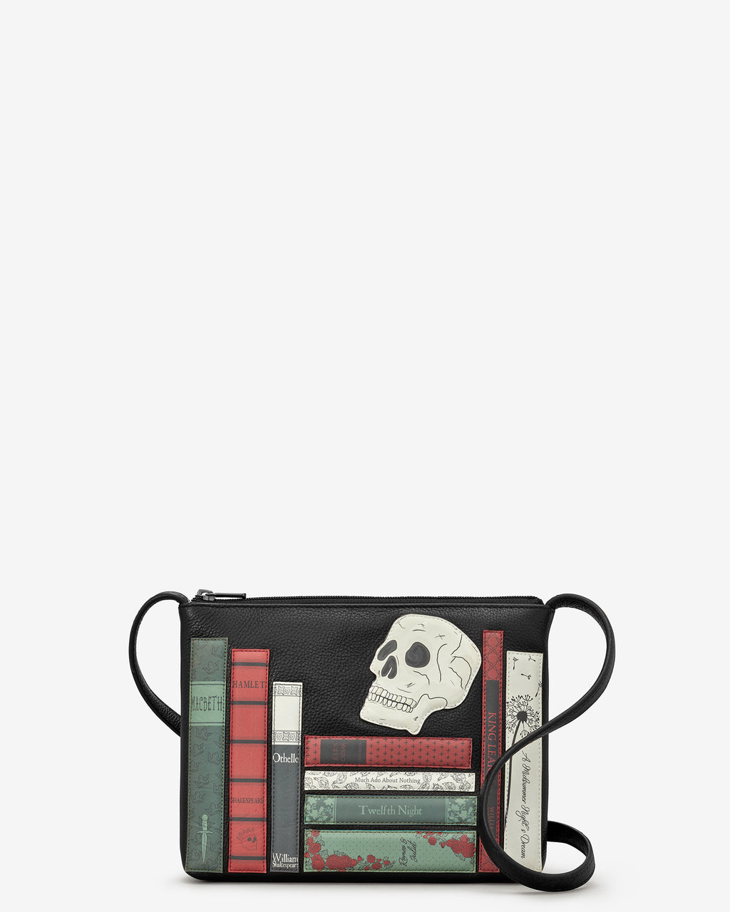 Shakespeare Bookworm Parker Leather Cross Body Bag