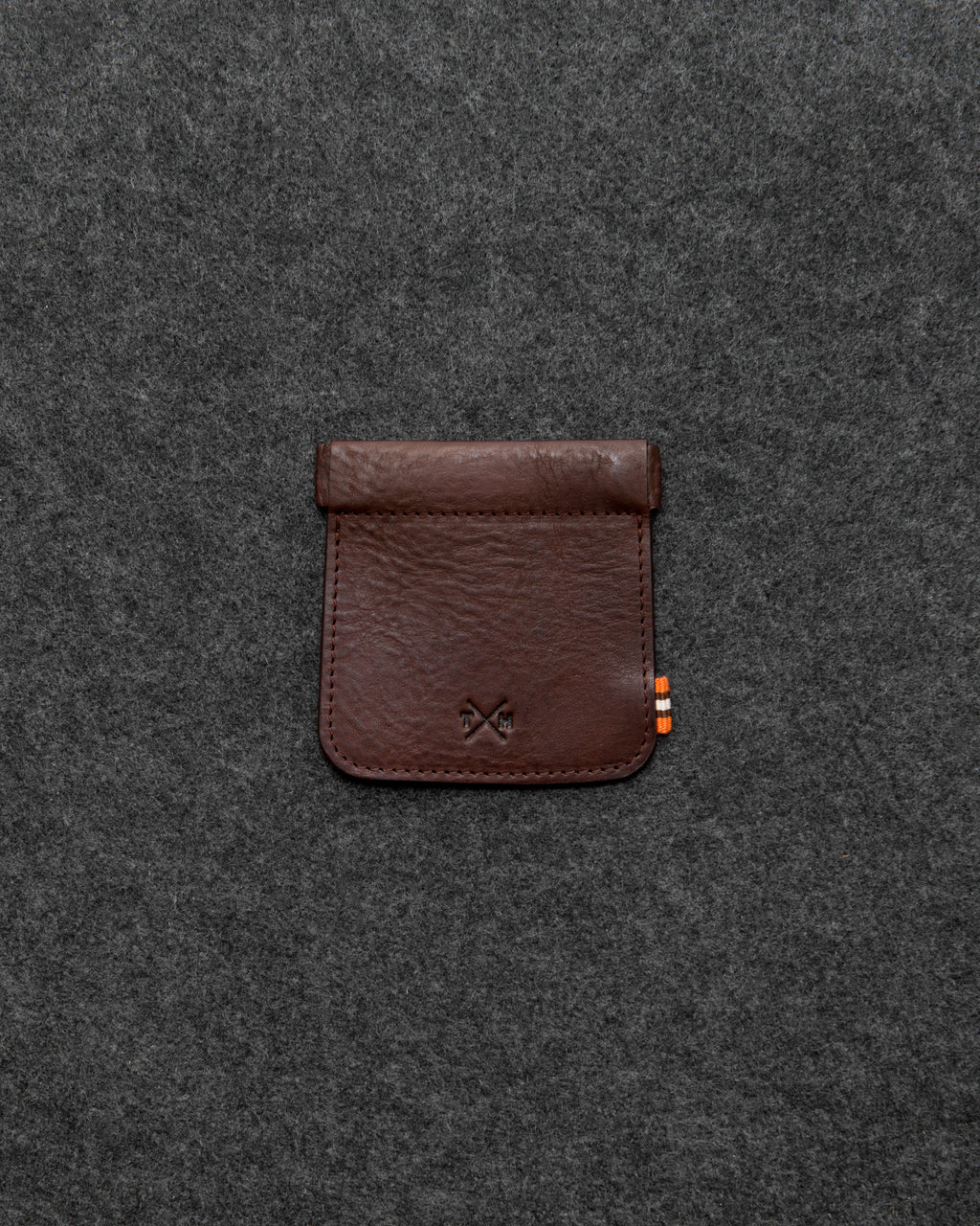 Chukka Leather Snap Top Coin Pouch