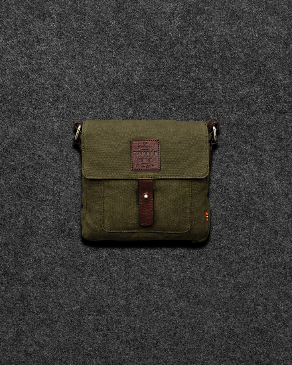 Chukka Leather And Waxed Canvas Cartridge Bag