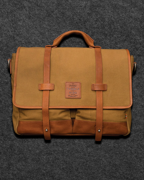 Chukka Leather And Waxed Canvas Despatch Bag