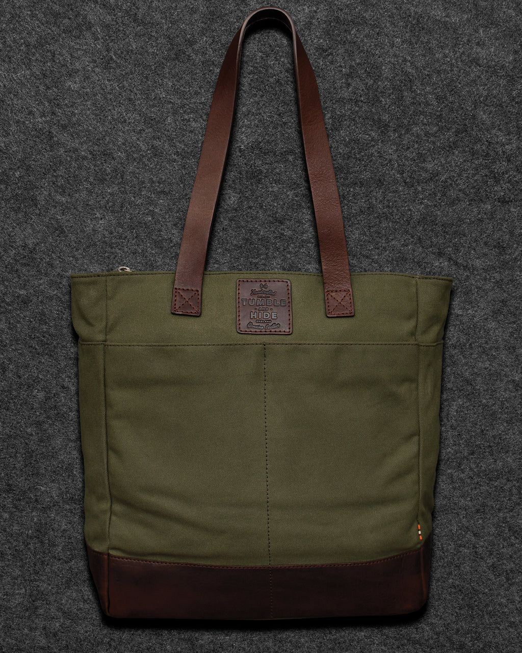 Chukka Leather And Waxed Canvas Shopper Bag