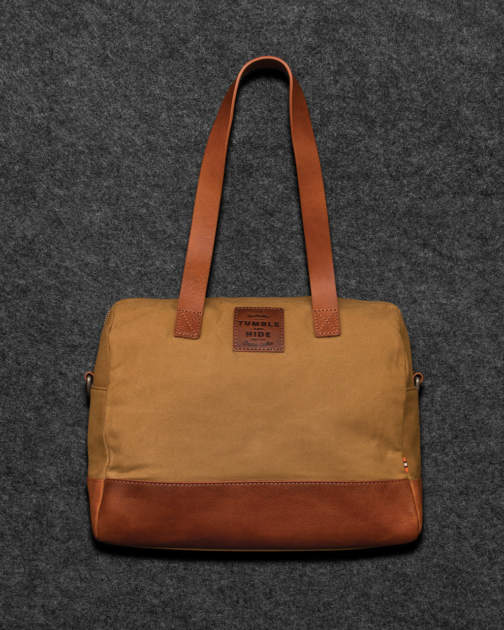 Chukka Leather And Waxed Canvas Bowler Bag