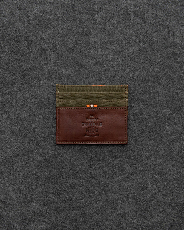 Chukka Leather And Waxed Canvas Slim Credit Card Holder