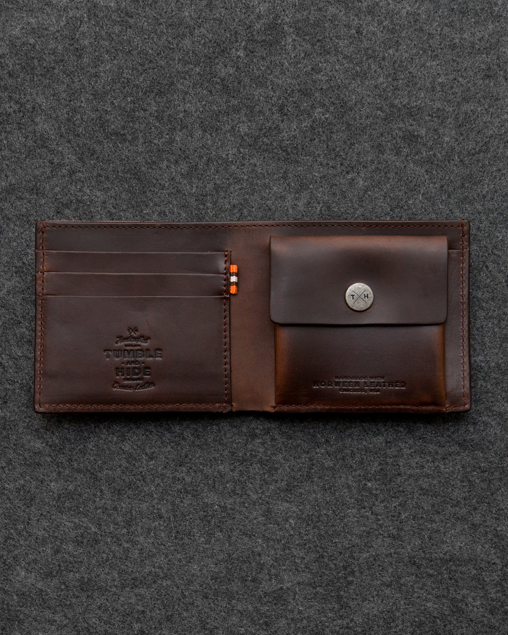 Horween Leather Coin Pocket Wallet