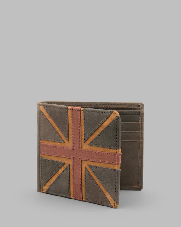Brown Hunter Leather Union Jack Wallet