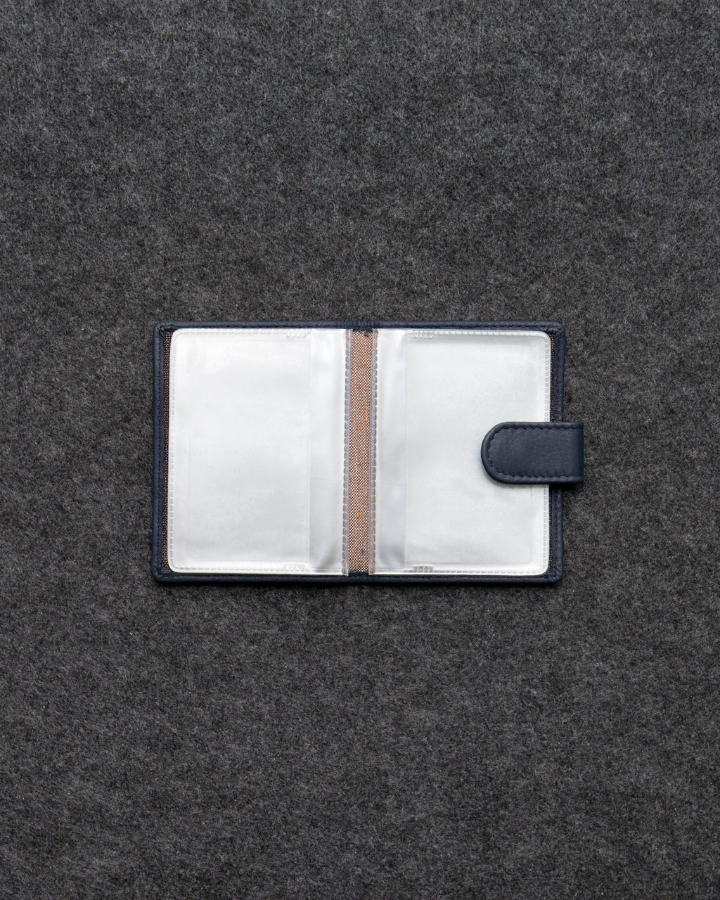 Newton Leather And Plastic Credit Card Holder With Tab