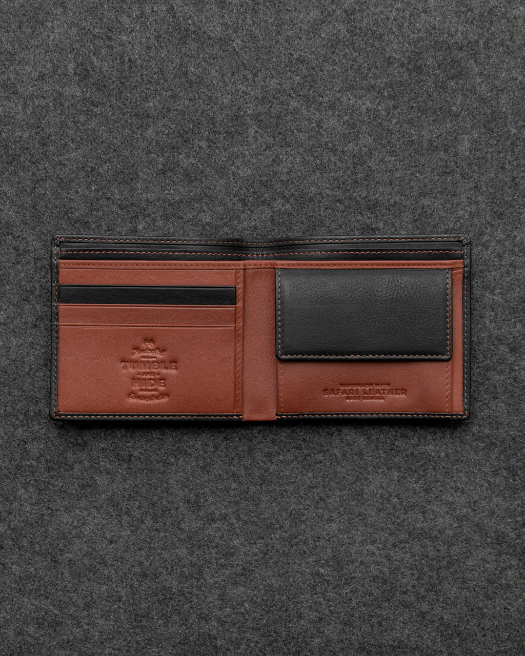 Safari Leather Basal Coin Pocket Wallet