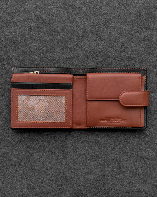 Safari Leather Everyday Wallet With Secret Pocket