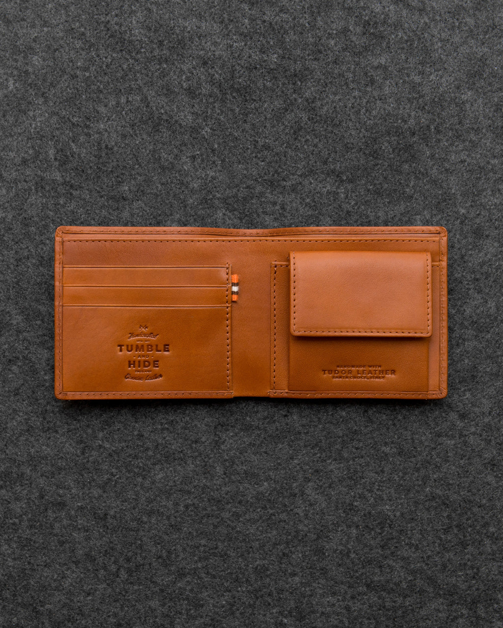Tudor Leather Coin Pocket Wallet