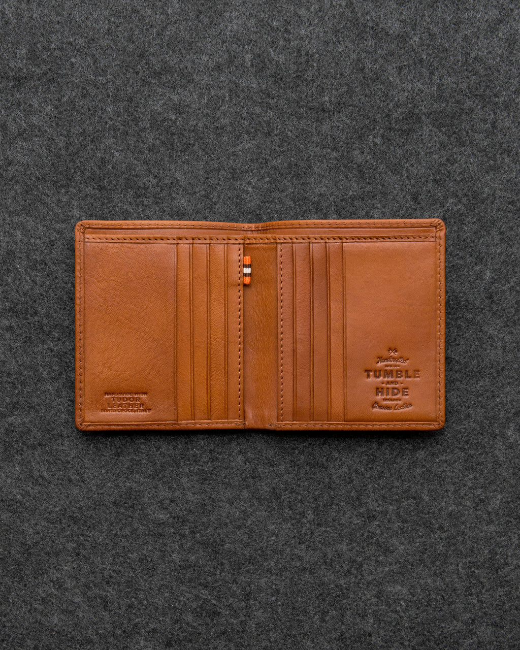 Tudor Leather North South Basal Wallet