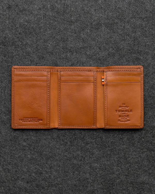 Tudor Leather Three Fold Wallet