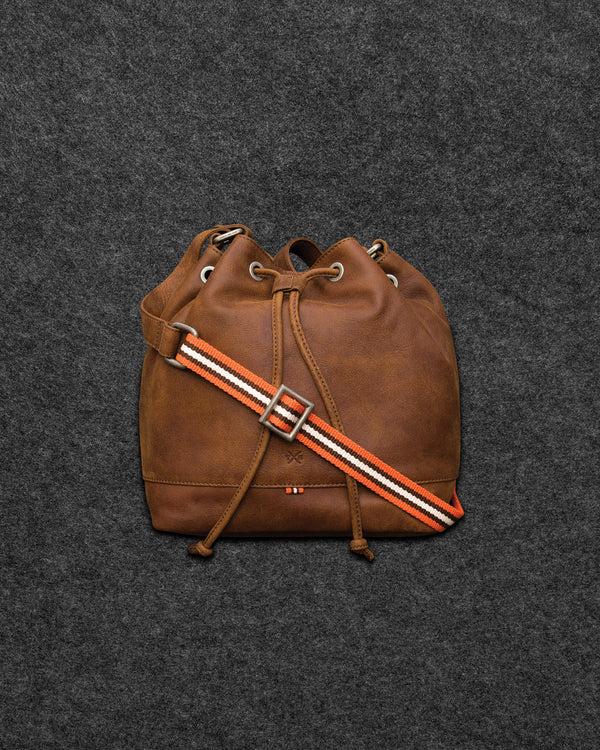Yukon Leather Bucket Bag