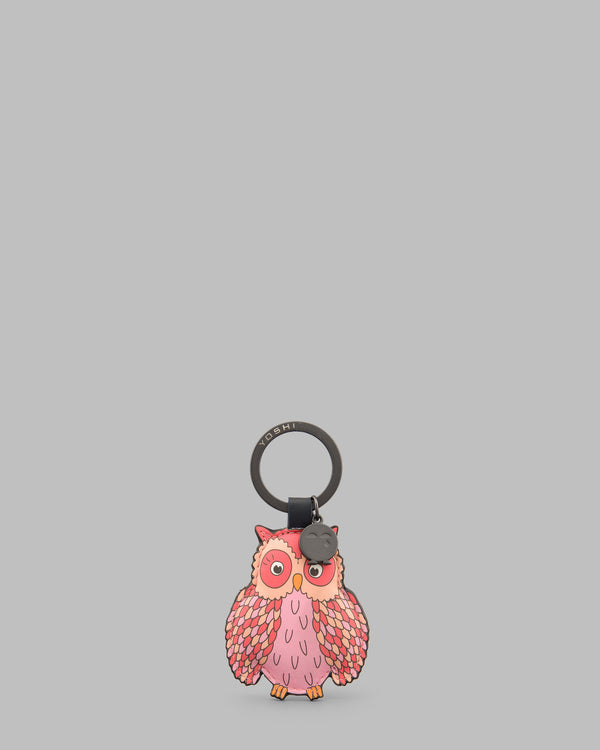 Twit Twoo Navy Leather Owl Keyring