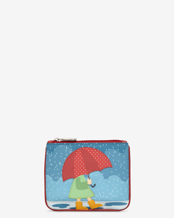 Y By Yoshi Umbrella Zip Top Leather Purse