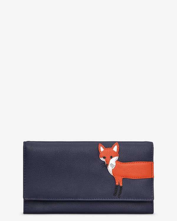 Fergus the Fox Flap Over Leather Matinee Purse
