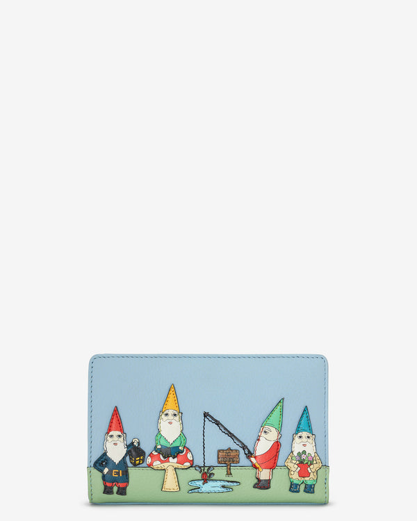 Gnome Sweet Gnome Zip Around Leather Purse