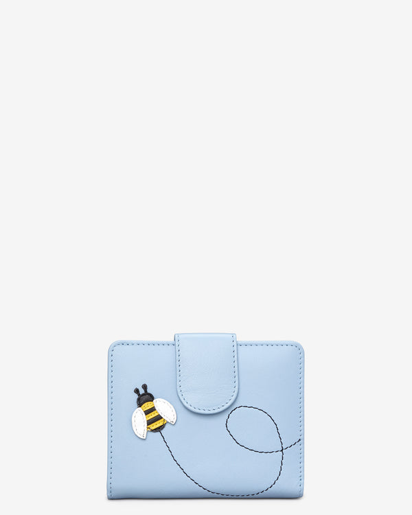 Y By Yoshi Bumble Bee Medium Zip Around Leather Purse
