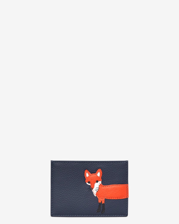 Fergus the Fox Slim Leather Card Holder