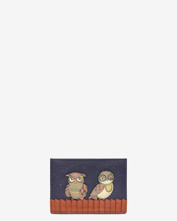 Owl You Need Slim Leather Card Holder