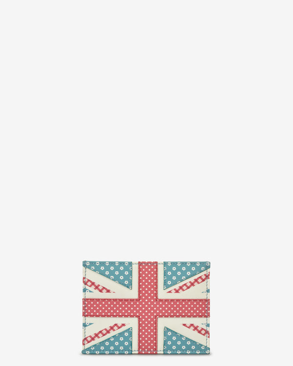 Union Jack Slim Leather Card Holder