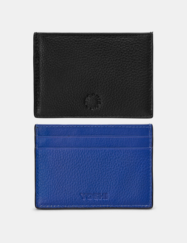 Slim Contrast Leather Card Holder